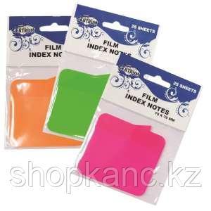 Клейкие индексы пластиковые, цвета ассорти по 25 листов