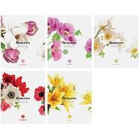 Тетрадь A5 96 листов в клетку, Цветы. Flowers.