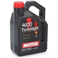 Моторное масло, MOTUL 4100 Turbolightl, 10W-40, 4 литр.