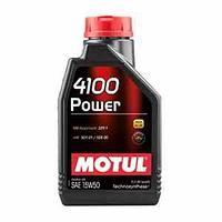 Моторное масло, MOTUL 4100 Powerl, 15W-50, 1 литр.