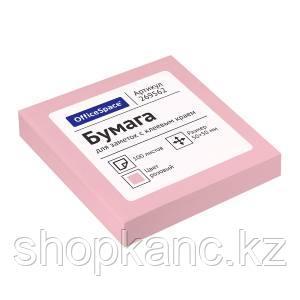 Самоклеящийся блок OfficeSpace, 50*50мм, 100л., розовый