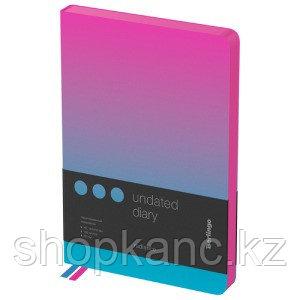 """Ежедневник недатир. A5, 136л., кожзам, Berlingo """"Radiance"""",розовый/голубой  градиент"""