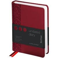"Ежедневник недатир. A6, 160л., кожзам, Berlingo ""Vivella Prestige"", бордовый"