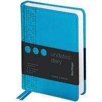 "Ежедневник недатир. A6, 160л., кожзам, Berlingo ""Vivella Prestige"", голубой"