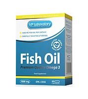 VPlab Fish Oil Omega 3 60 капс 1000mg