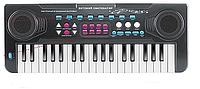 Детский синтезатор ВО691 черный с микрофоном