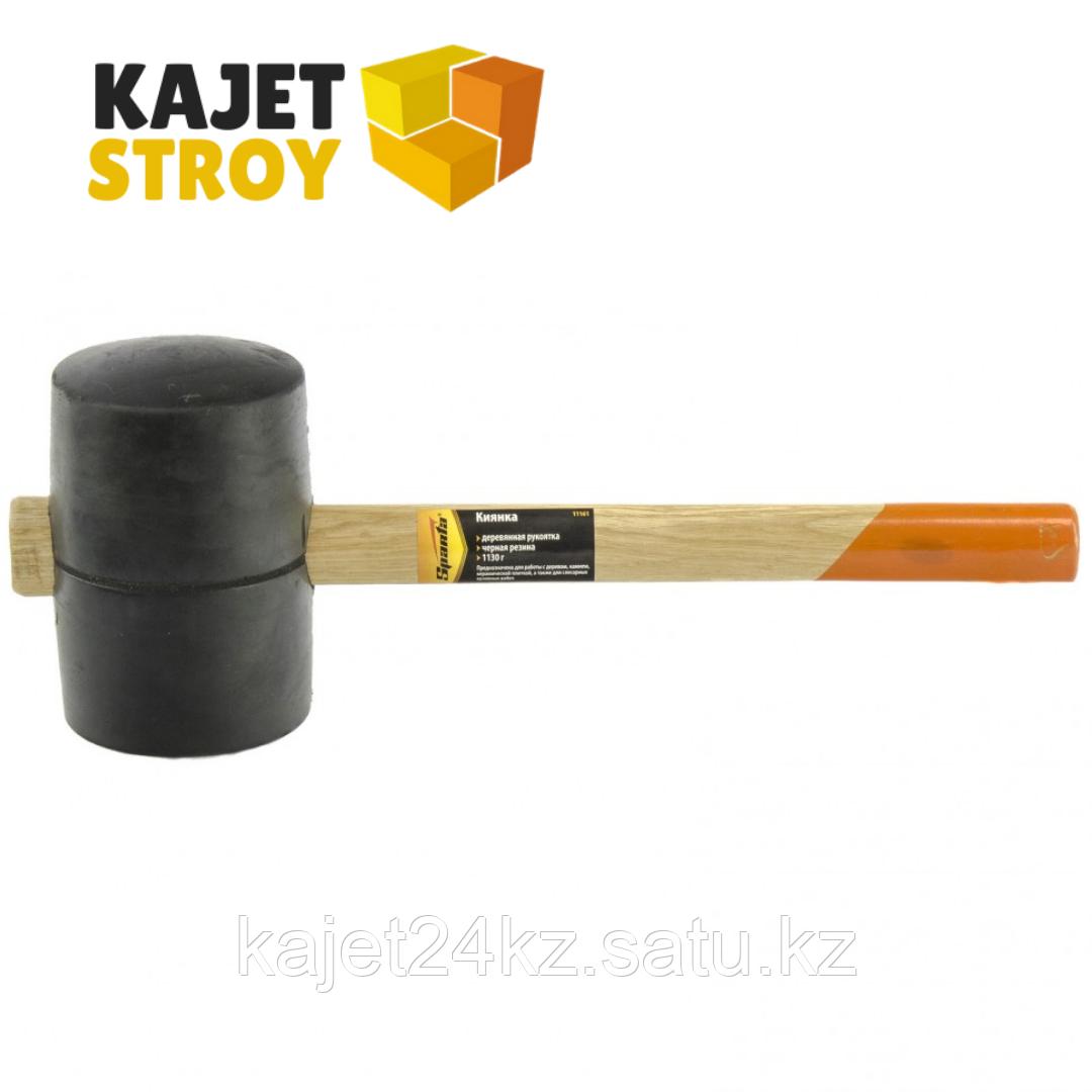 Киянка резиновая, 1130 г, черная резина, деревянная рукоятка// Sparta