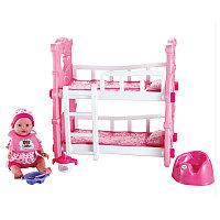 Пупс с двухъярусной кроваткой Baby Bed W0187