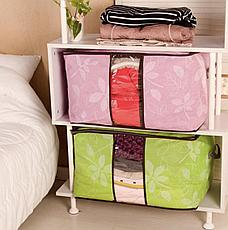 Органайзер для одежды с цветочным принтом салатовый, фото 2