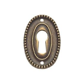 Ключевина 'Louis XVI', 25х37мм, латунь пат