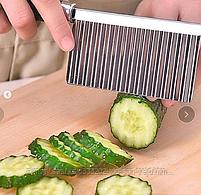 Нож для декоративной нарезки( ручка деревянная ), фото 3