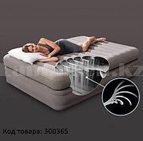 Надувной матрас двуспальный со встроенным электронасосом Prime Comfort Intex 64446 (203*152*51 см)