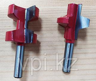 Фреза для ручного фрезера с подшипником, по дереву, набор из 2шт. 8мм.  815005-6