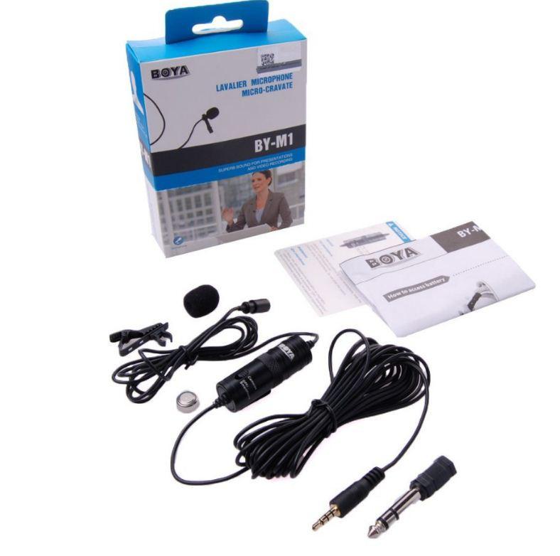 Петличный стерео микрофон от BOYA BY-M1 в комплекте