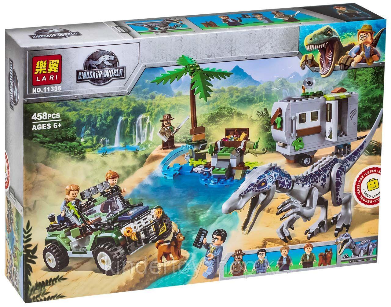 Конструктор Аналог Lego лего 75935 Lari Jurassic World 11335 Поединок с бариониксом охота за сокровищами диноз
