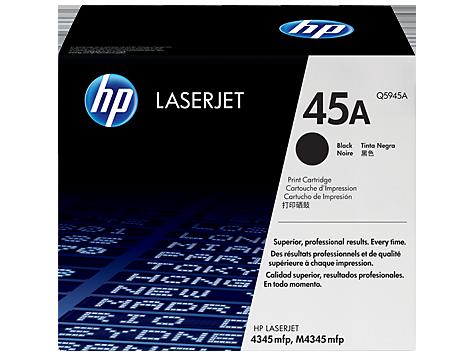 HP Q5945A Картридж лазерный черный HP 45A для LaserJet 4345