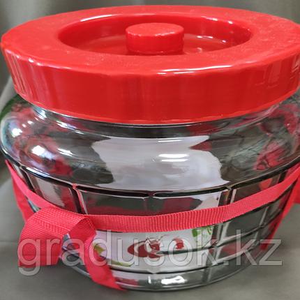 Банка стеклянная с гидрозатвором 9 литров., фото 2
