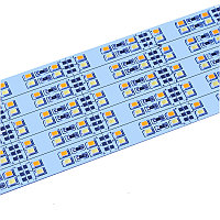 Двухрядная двухцветная светодиодная алюминиевая полоса SMD 5630 теплая и белая