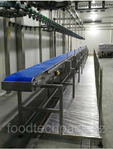 Транспортная лента для сортировки субпродуктов