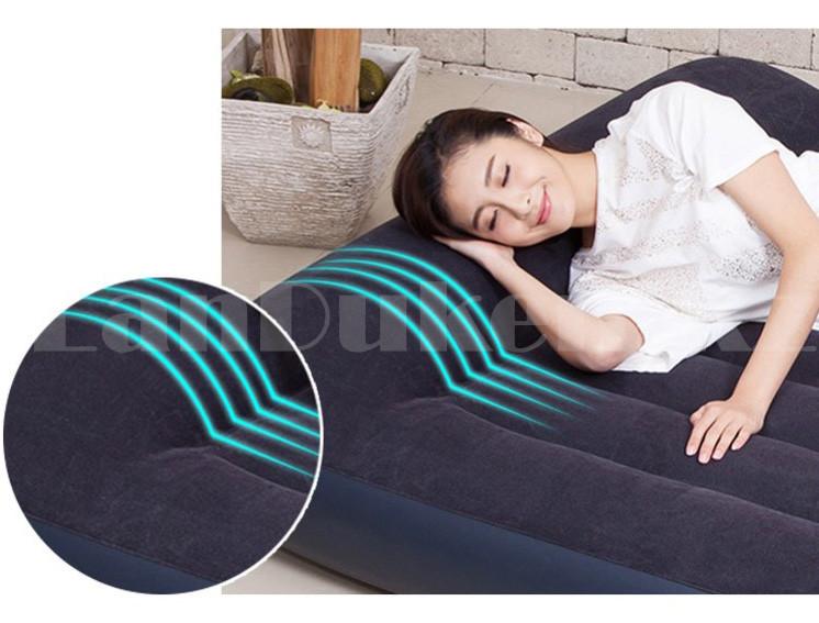 Надувной матрас двуспальный с подголовником и с сумкой Intex 64143 (203x152x25cm) - фото 3