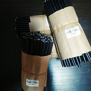 Черные тонкие восковые свечи оптом √120