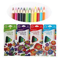 Набор цветных карандашей Yalong Flower 12 цветов