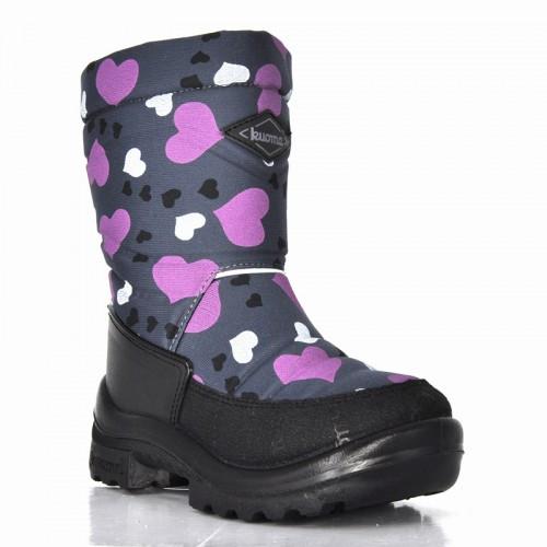 Обувь детская Putkivarsi wool, Grey Winter Heart