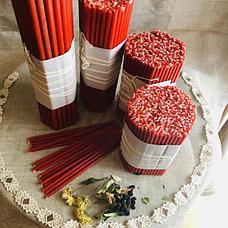 Красные тонкие восковые свечи оптом №120