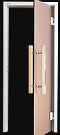 Дверь для хамама Maestro Woods 800*2000 мм, бронза, алюминиевая, фото 1