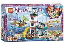 Конструктор Аналог Lego Friends 41380 Lari 11372 лего френдс Спасательный центр на маяке