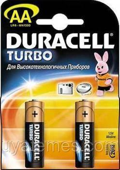 Батарейки типа АА Duracell LR6 Turbo 2 шт