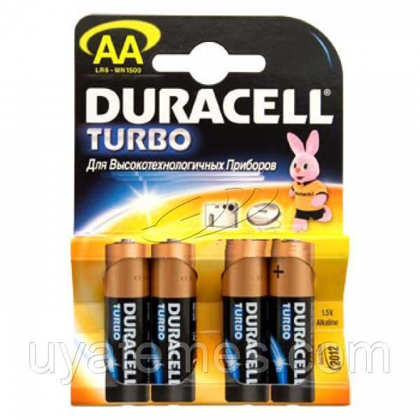 Батарейки типа АА Duracell LR6 Turbo 4 шт