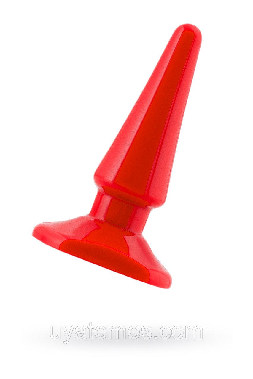 Анальная втулка Black & Red by TOYFA, водонепроницаемая, ПВХ, красная, 10 см, Ø 3 см