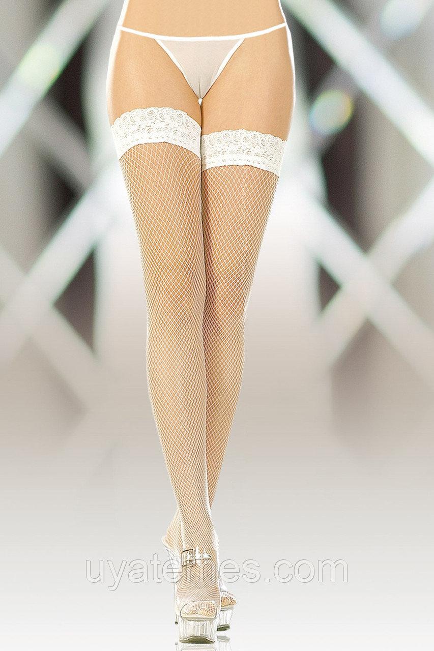 Чулки-сетка (c силик. полосками) SoftLine Collection, белый, M