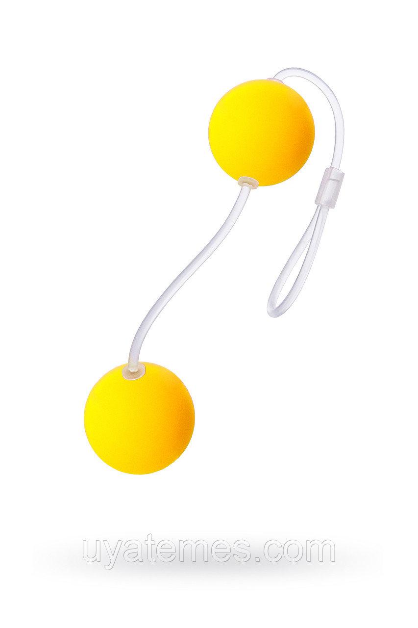 Вагинальные шарики Sexus Funny Five, ABS пластик, Желтый, Ø 3 см