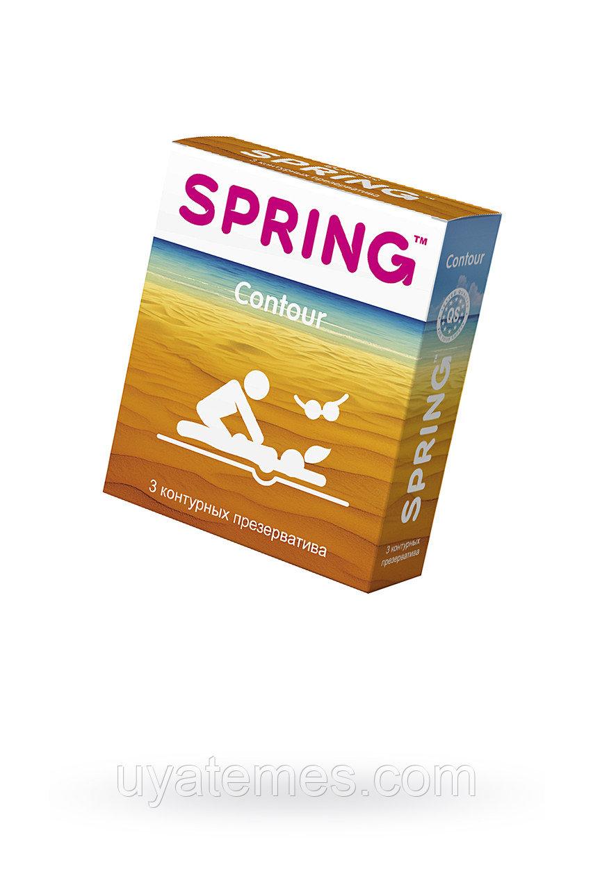 Презервативы Spring Contour, контурные, латекс, 17,5 см, 3 шт