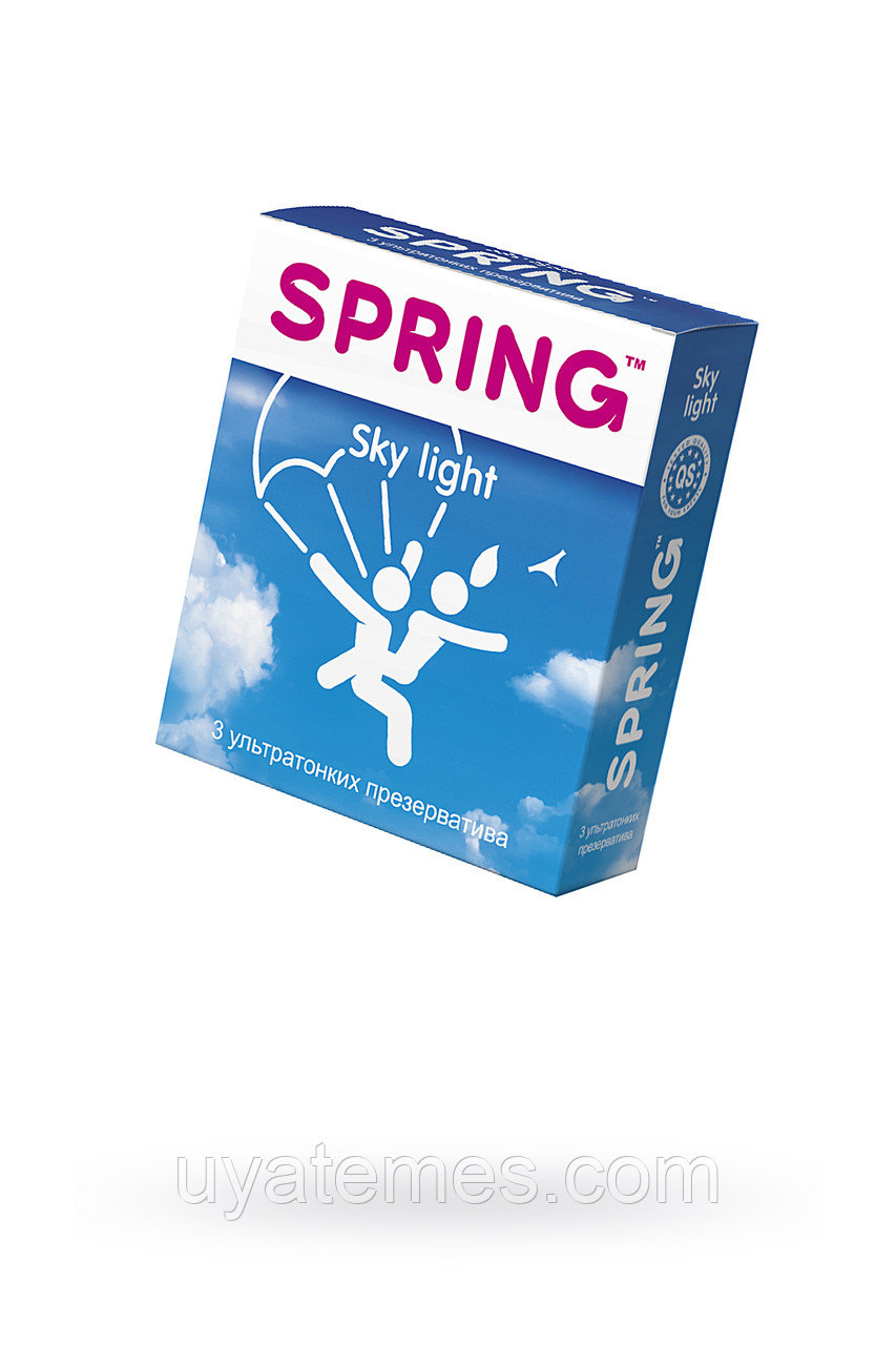 Презервативы Spring Sky Light, ультратонкие, латекс, 17,5 см, 3 шт