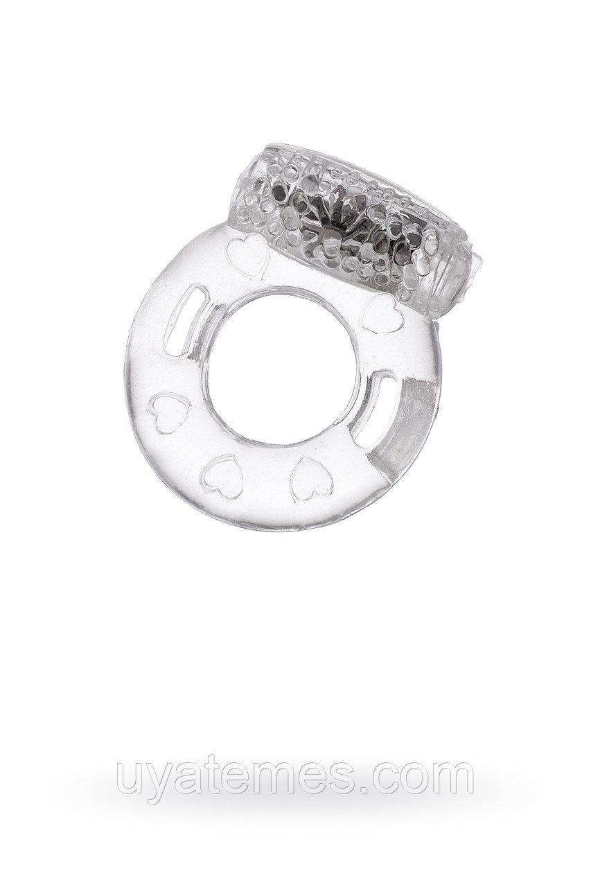 Виброкольцо TOYFA, TPE, прозрачный