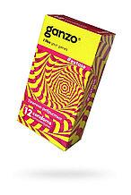Презервативы Ganzo Extase, с точечно-ребристой поверхностью, анатомической формы, латекс, 18 см, 12 шт