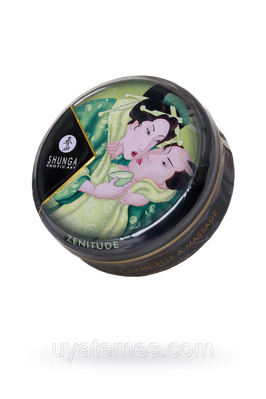 Массажное аромамасло Shunga Zenitude с ароматом зелёного чая, 30 мл