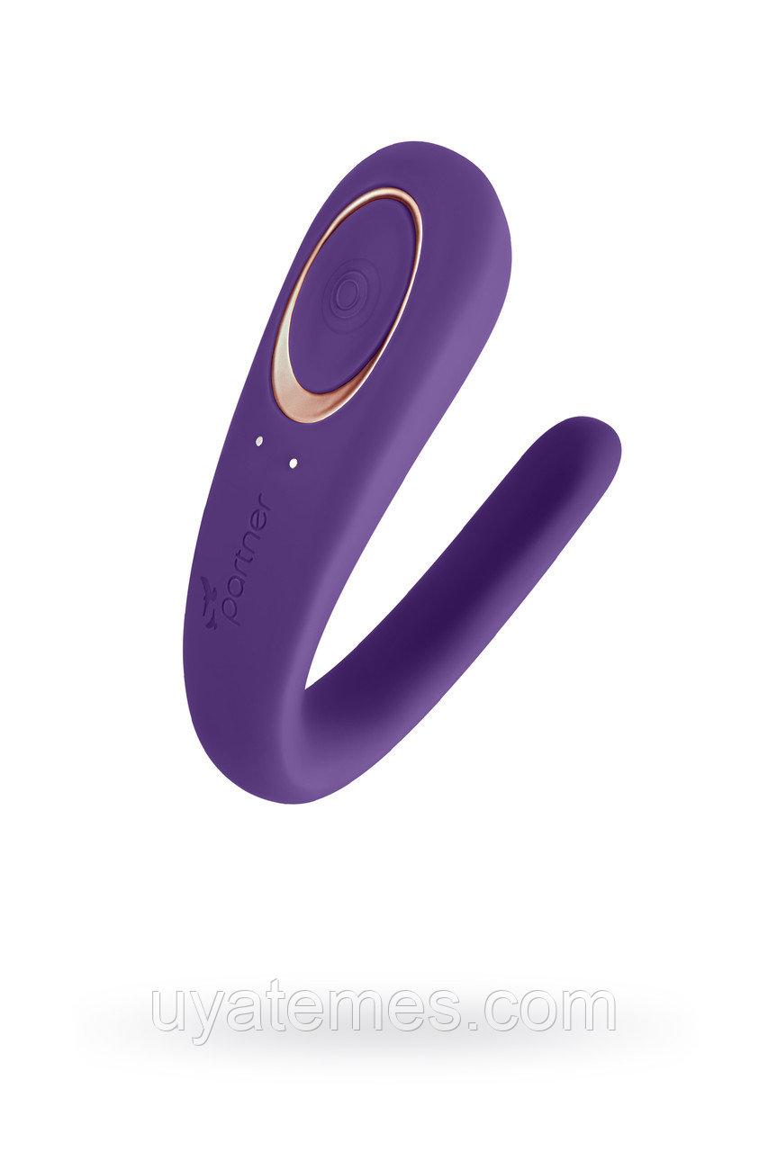 Многофункциональный стимулятор для пар Satisfyer Partner Toy, силикон, фиолетовый, 18,5см