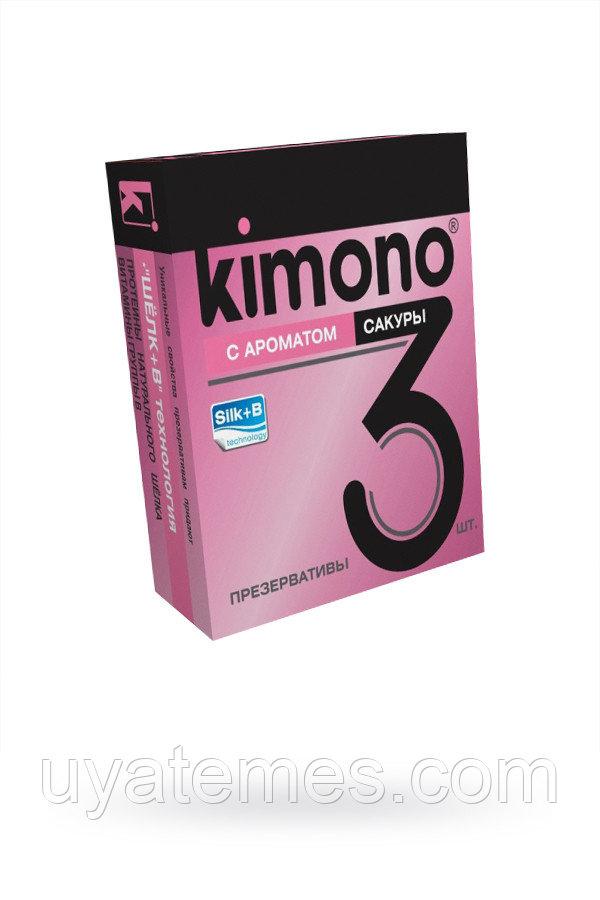 Презервативы КИМОНО с ароматом сакуры №3, 12 шт.