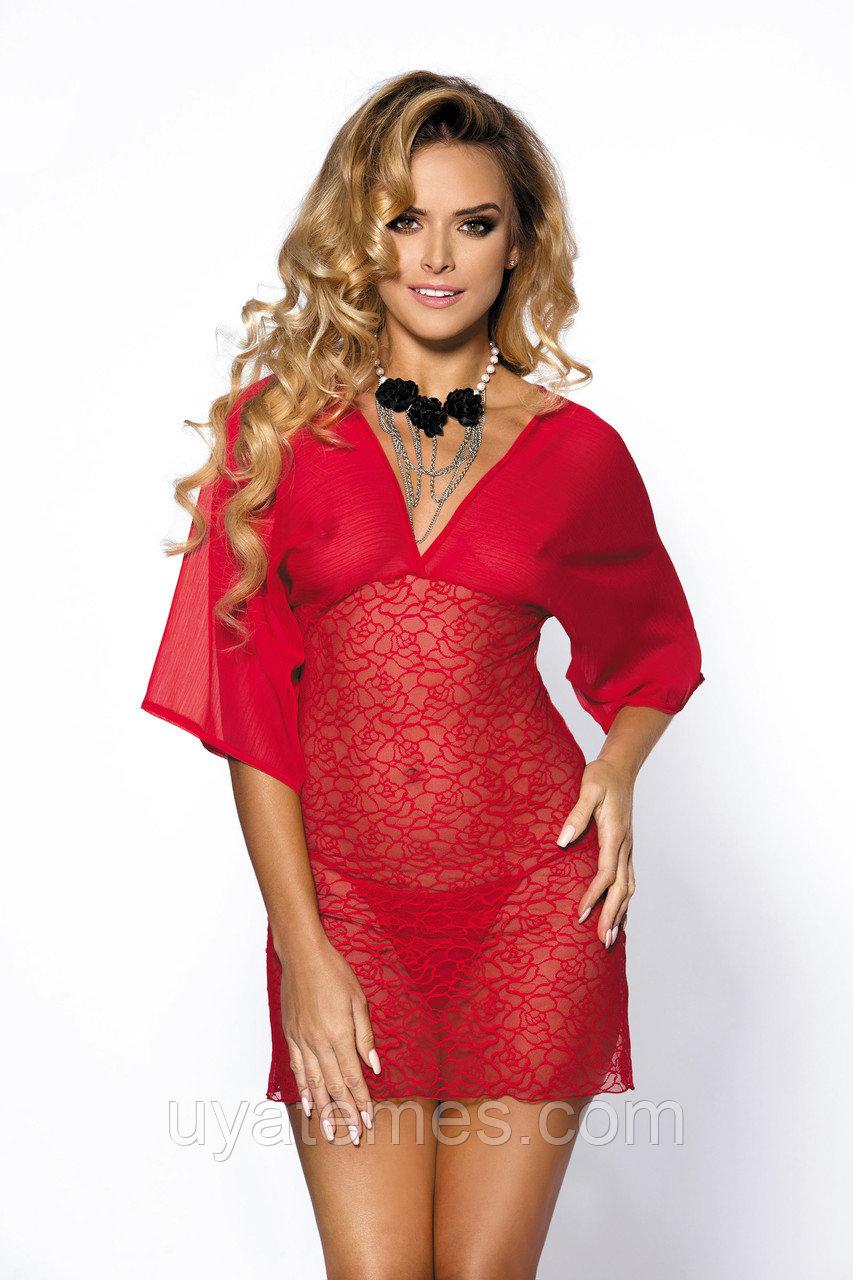 Ночная сорочка Anais Lorna, красная, M