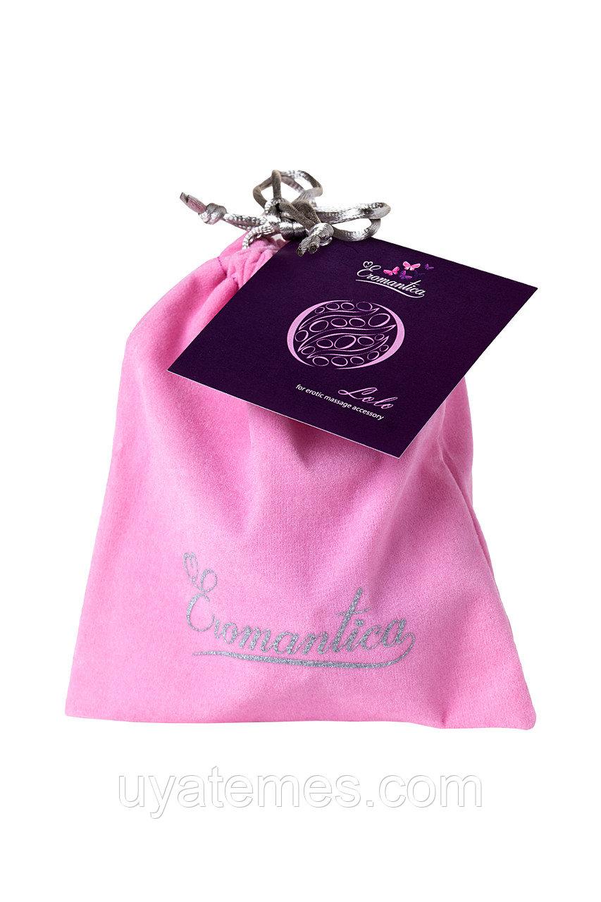 Аксессуар для эротического массажа Eromantica LOLO, TPE, ABS-пластик, бесцветный, 7см