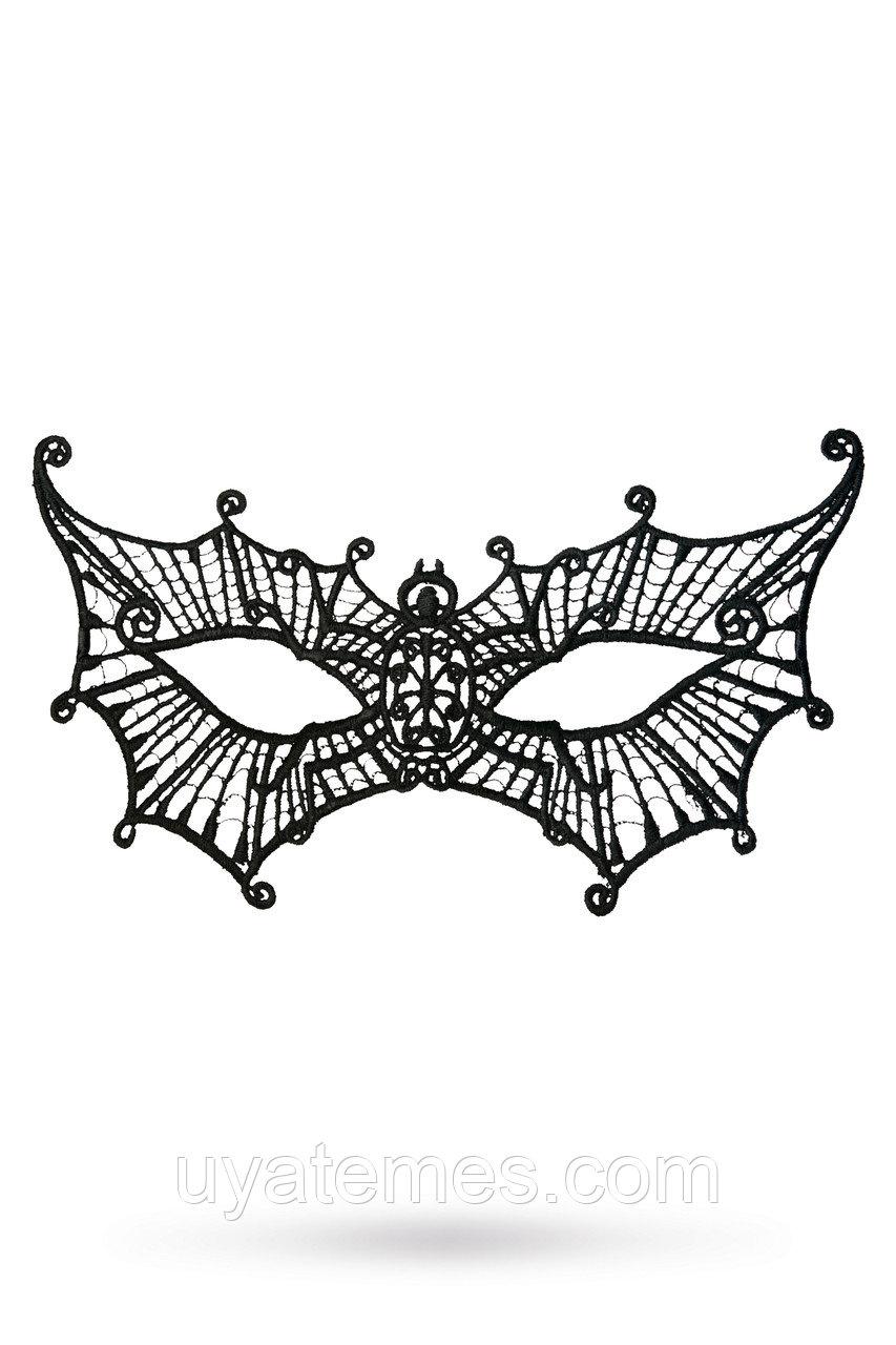 Маска нитяная Toyfa Theatre «Паутинка», текстиль, черная