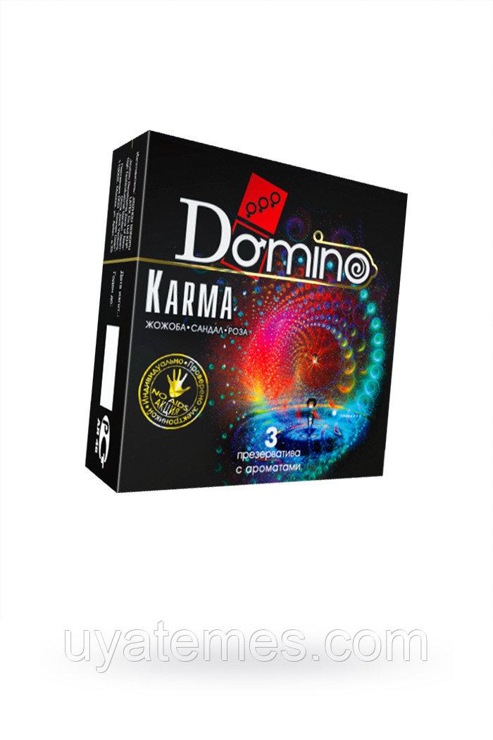 Презервативы Luxe DOMINO PREMIUM Karma, роза, жожоба и сандал,  3 шт. в упаковке