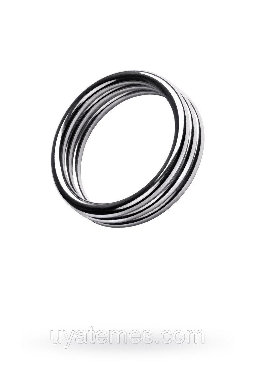 Кольцо на пенис,TOYFA Metal, серебристое