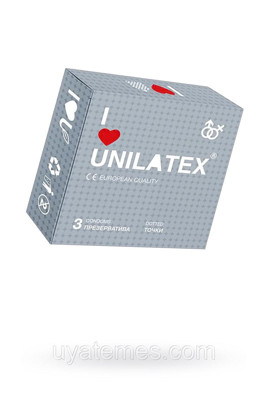 Презервативы Unilatex Dotted №3 с точками