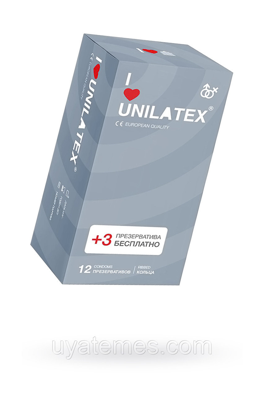 Презервативы Unilatex Ribbed №12 ребристые