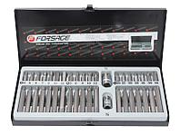 F-4401 Forsage Набор бит с битодержателями 40 предметов (10мм)(75/30мм:T20-T55,H4-H12,M5-M12) в пластиковом кейсе Forsage F-4401C